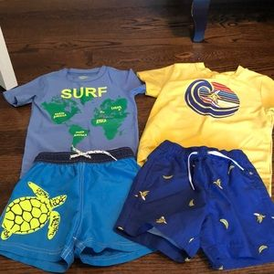 Size 3 boys top brand swim bundle, exc cond!